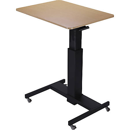 "Lorell 28"" Sit-to-Stand School Desk - Black Oak Top - 40"" Height x 28"" Width - Assembly Required"