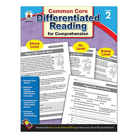 Carson-Dellosa Differentiated Reading For Comprehension, Grade 2