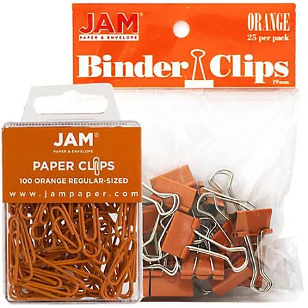 JAM Paper® Clips Combo Kit, Regular/Small, Orange