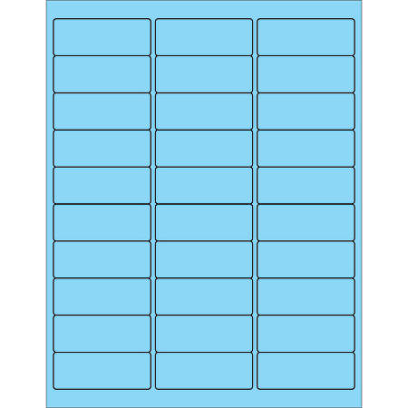 """Office Depot® Brand Labels, LL173BE, Rectangle, 2 5/8"""" x 1"""", Pastel Blue, Case Of 3,000"""