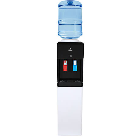 """Avalon Slim Hot/Cold Top-Loading Water Cooler, 11 1/4""""H x 10""""W x 42""""D, White"""
