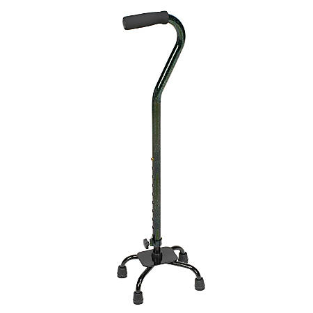 "DMI® Small-Base Adjustable Quad Canes, 38""H x 6""W x 8""D, Green Ice, Pack Of 2"