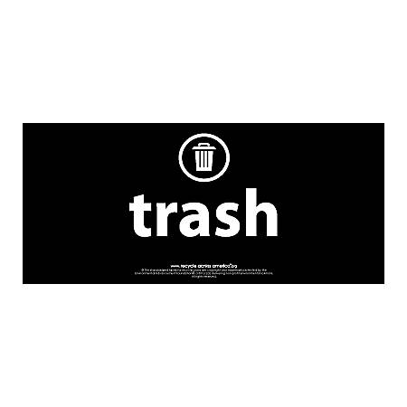 "Recycle Across America Trash Standardized Recycling Labels, TRASH-0409, 4"" x 9"", Black"