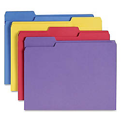 Smead 13 Cut Antimicrobial Color Folders