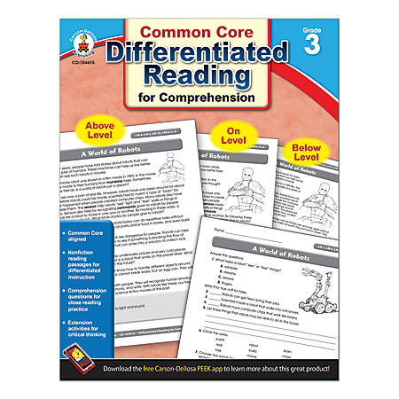 Carson-Dellosa Differentiated Reading For Comprehension, Grade 3