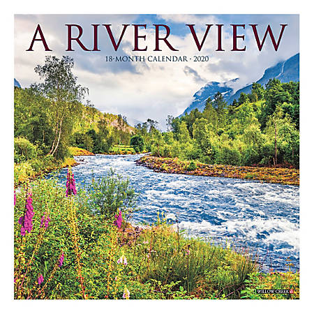 """Willow Creek Press Scenic Monthly Wall Calendar, 12"""" x 12"""", A River View, January To December 2020"""