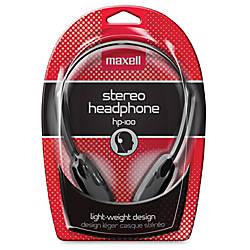 Maxell HP 100 Lightweight Stereo Headphone