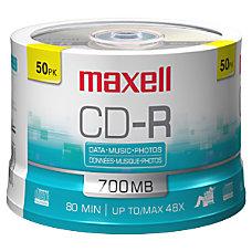 Maxell CD R Media 700MB 50