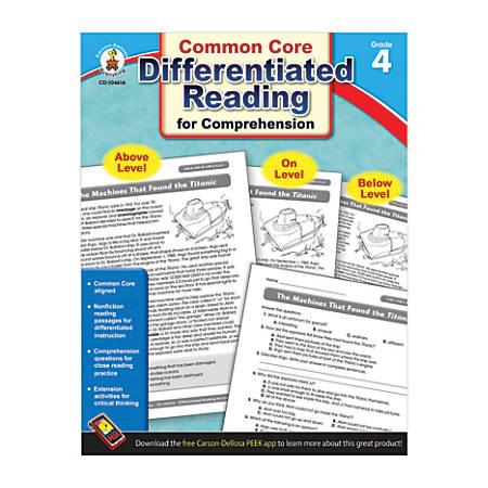 Carson-Dellosa Differentiated Reading For Comprehension, Grade 4