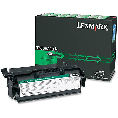 Lexmark™ T650H80G Remanufactured Black Toner Cartridge
