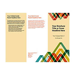 Customizable Trifold Brochure Vertical Pattern