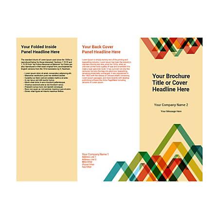 Customizable Trifold Brochure, Vertical Pattern