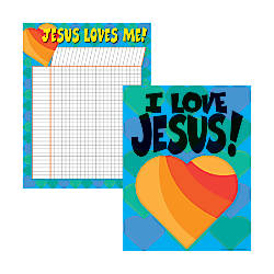 Barker Creek Chart Set Jesus Loves