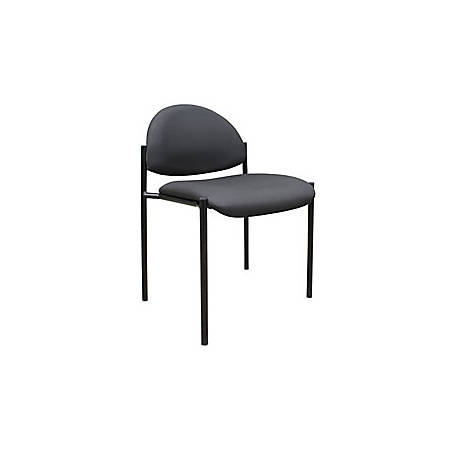 Boss Fabric Stacking Chair, Without Arms, Black