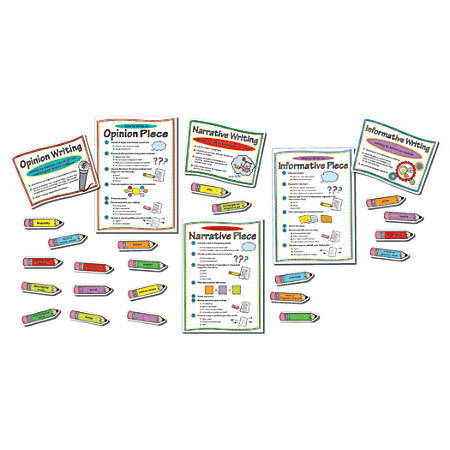 Carson-Dellosa Bulletin Board Set, Writing Modes, Pack Of 27 Pieces