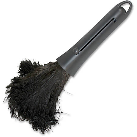 Genuine Joe Retractable Feather Duster - Plastic Handle - 1 Each