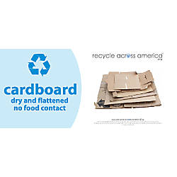Recycle Across America Cardboard Standardized Recycling