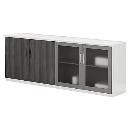 mayline medina series low wall cabinet doors contemporary 34 9 width x 26 7 height x 600 mil. Black Bedroom Furniture Sets. Home Design Ideas