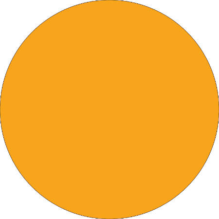 "Removable Round Color Inventory Labels, DL690H, 1/2"" Diameter, Fluorescent Orange, Pack Of 500"