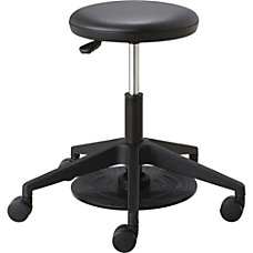 Safco Low Height Lab Stool BlackChrome