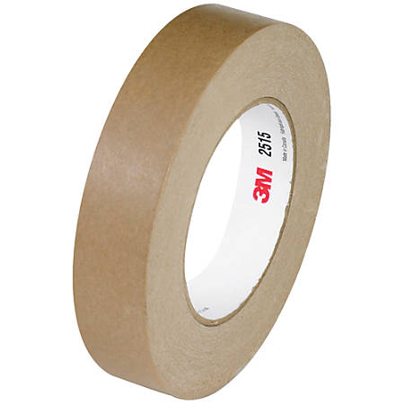 "3M™ 2515 Flatback Tape, 3"" Core, 0.75"" x 60 Yd., Tan, Case Of 48"
