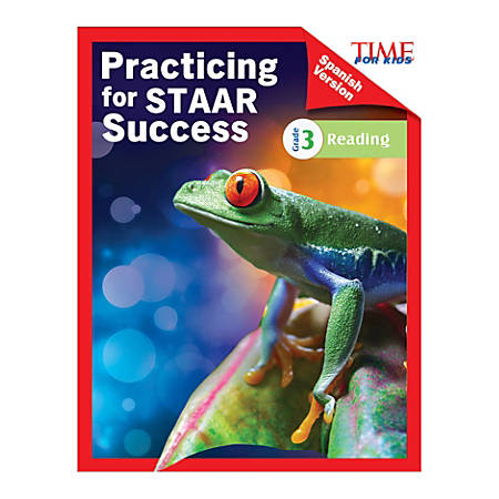 Shell Education TIME For Kids Practicing For STAAR Success: Reading, Level 3, Spanish, Grade 3