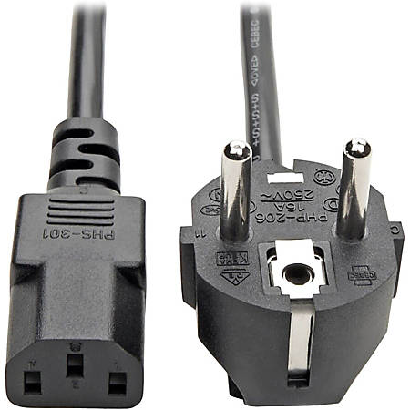 """Tripp Lite 6ft 2-Prong Computer Power Cord European Cable C13 to SCHUKO CEE 7/7 Plug 10A 6' - Cord, 10A (IEC-320-C13 to SCHUKO CEE 7/7) 6-ft."""""""