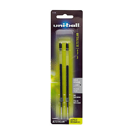 uni-ball® JetStream™ Refills, For JetStream Stick, Bold Point, 1.0 mm, Black, Pack Of 2