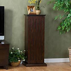 Southern Enterprises Wooden Media Storage Pedestal