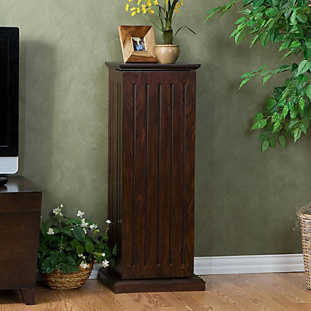 Southern Enterprises Wooden Media Storage Pedestal, Espresso