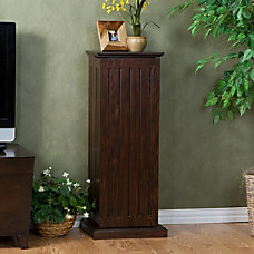 Southern Enterprises Wooden Media Storage Pedestal