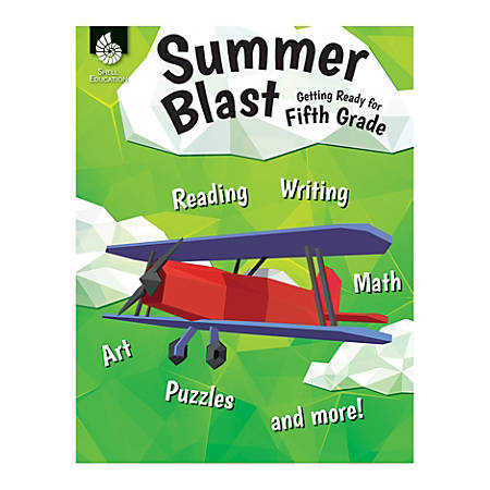 Shell Education Summer Blast Activity Book, Getting Ready For Fourth Grade