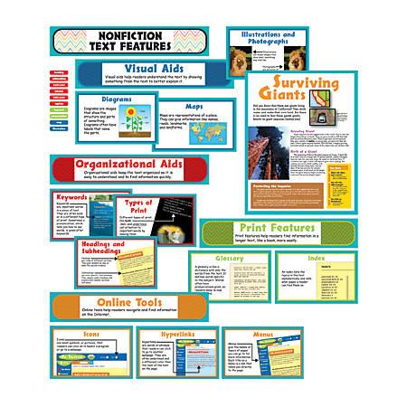 Carson-Dellosa Bulletin Board Set, Nonfiction Text Features, Pack Of 31 Pieces