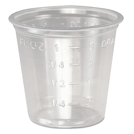 Solo® Plastic Medical And Dental Cups, 1 Oz, Clear, Pack Of 5,000 Item #  826163