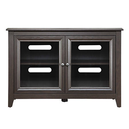 "Whalen® Furniture Clinton Highboy TV Console For Flat-Panel TVs Up To 50"", 30""H x 44""W x 21""D, Mocha"