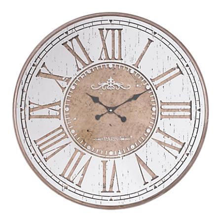 Zuo Modern Hora Clock, Antique Silver