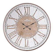 Zuo Modern Hora Clock Antique Silver