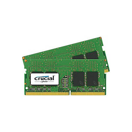Crucial 16GB (2 x 8 GB) DDR4 SDRAM Memory Module - For Notebook - 16 GB (2 x 8 GB) - DDR4-2400/PC4-19200 DDR4 SDRAM - CL17 - 1.20 V - Non-ECC - Unbuffered - 260-pin - SoDIMM