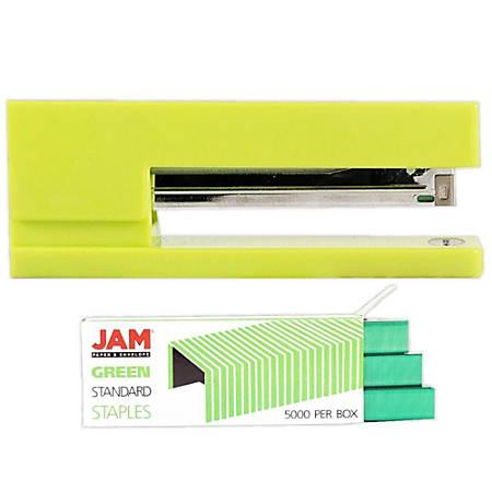 JAM Paper® 2-Piece Office Stapler Set, Lime Green/Green