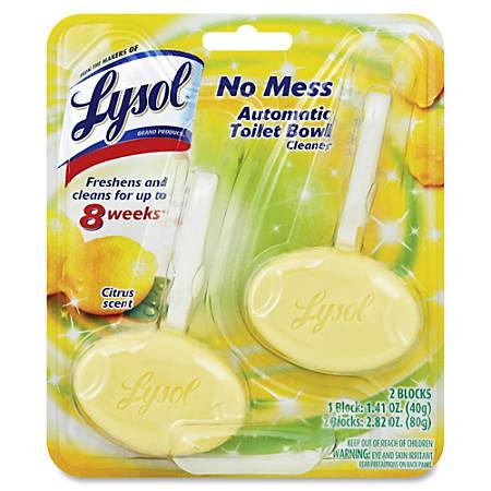 Lysol Toilet Bowl Cleaner Blocks - Block - 1.41 oz (0.09 lb) - Lemon Breeze Scent - 8 / Carton - Yellow