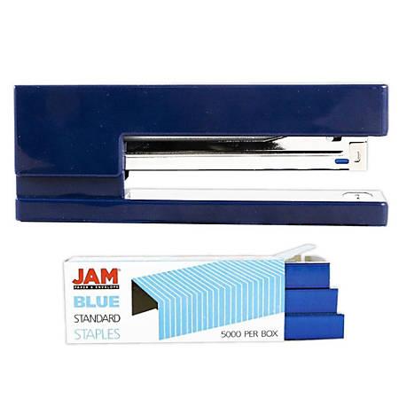 JAM Paper® 2-Piece Office Stapler Set, Navy Blue/Blue