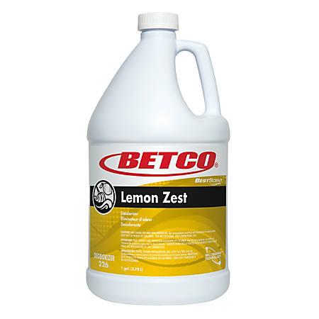 Betco® Best Scent Odor Eliminator Concentrate, Lemon Zest Scent, 128 Oz, Case of 4