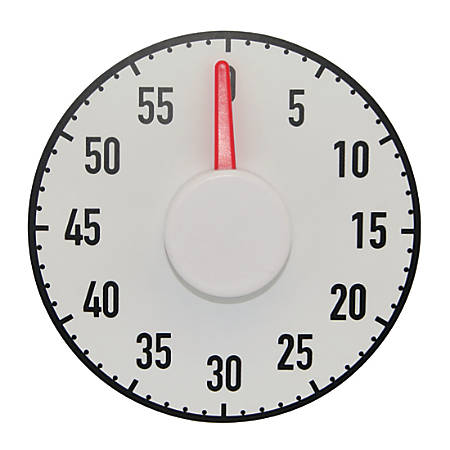 Ashley Productions The Big Timer, Black/White/Red, Pack Of 2