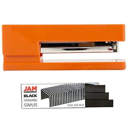 JAM Paper® 2-Piece Office Stapler Set, Orange/Black