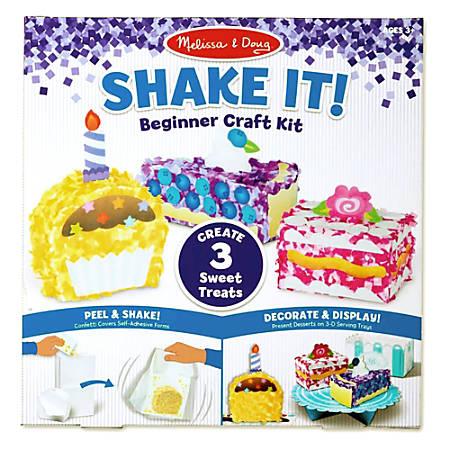 Melissa & Doug Children's Educational Toys, Deluxe Sweet Treats Shake It! Beginner Craft Kit
