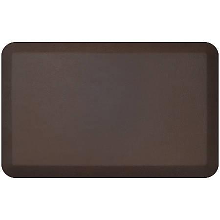 "GelPro NewLife Designer Comfort Leather Grain Anti-Fatigue Floor Mat, 20"" x 32"", Truffle"