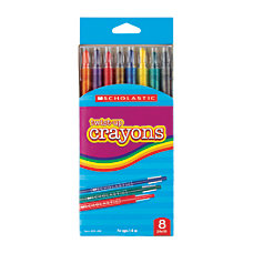 Scholastic Twist Up Crayons Assorted Colors