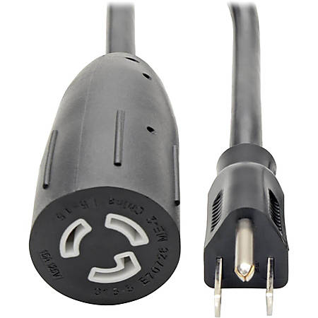 """Tripp Lite 1ft Power Cord Extension Cable 5-15P to 5-15R Heavy Duty 15A 14AWG 1' - 15A, 14AWG (NEMA 5-15P to NEMA L5-15R) 1-ft."""""""