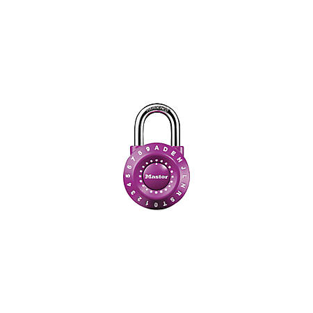 "Master Lock Set-Your-Own Combination Steel Lock, 1 7/8"", Assorted Colors"