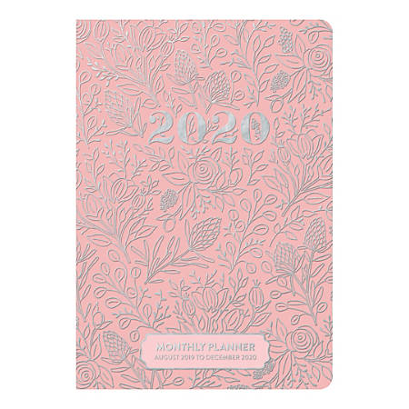 """Orange Circle Studio™ 17-Month Academic Monthly Pocket Planners, 6-1/2"""" x 4-1/2"""", Floral Vines, August 2019 to December 2020"""